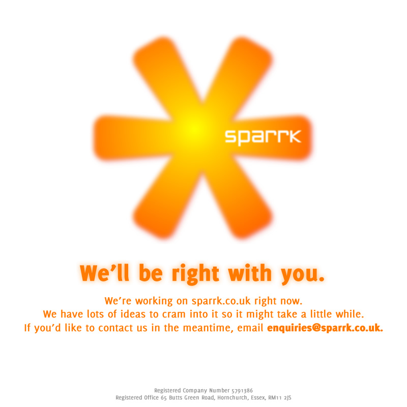 We're working on sparrk.co.uk